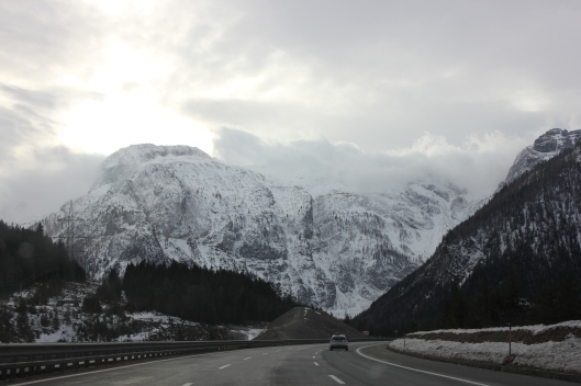 Driving through the Austrian Alps