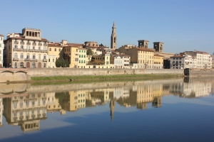 Reflection in the River Arno