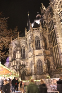 Aachen Christmas Market at night